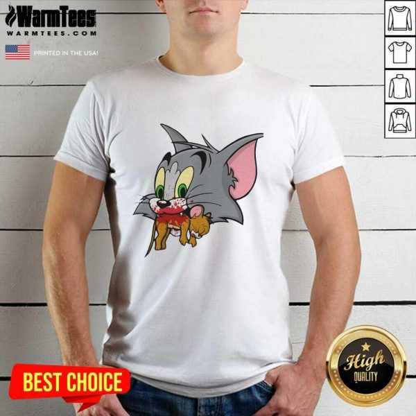 Tom Finally Catches Jerry Shirt - Design By Warmtees.com