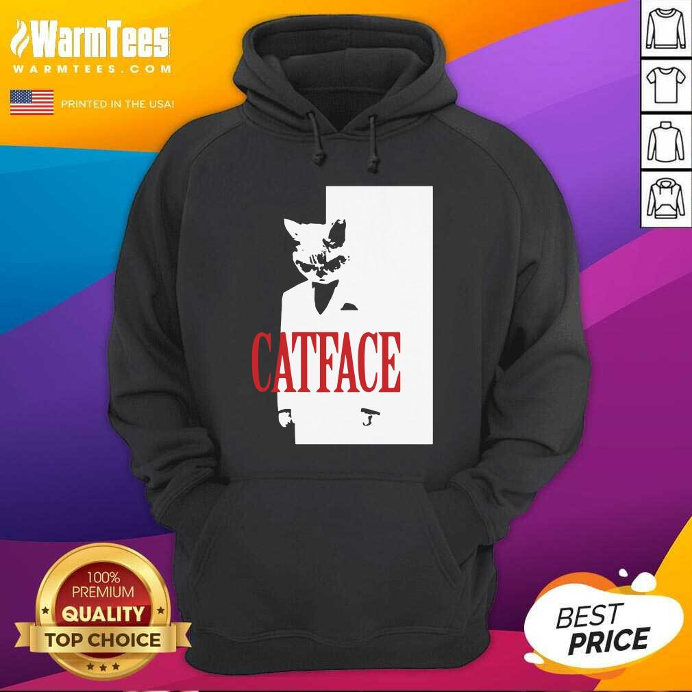 Cat Face Hoodie  - Design By Warmtees.com