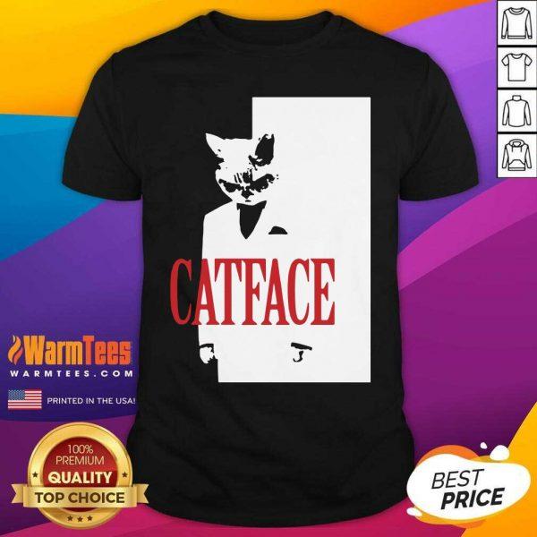 Cat Face Shirt - Design By Warmtees.com