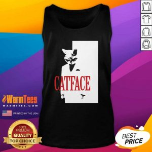 Cat Face Tank Top - Design By Warmtees.com