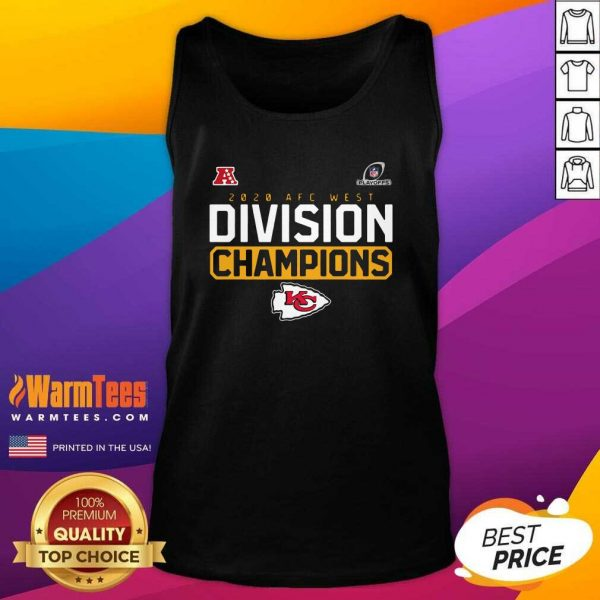 2020 AFC West Division Champions Kansas City Chiefs Tank Top - Design By Warmtees.com