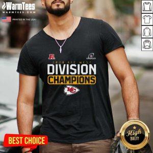 2020 AFC West Division Champions Kansas City Chiefs V-neck - Design By Warmtees.com