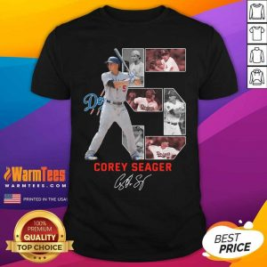 5 Corey Seager Los Angeles Dodgers Signature Shirt - Design By Warmtees.com