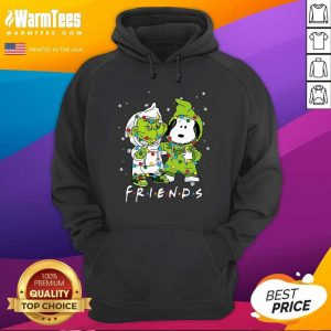 Baby Grinch And Snoopy Friends Merry Christmas Light Hoodie - Design By Warmtees.com