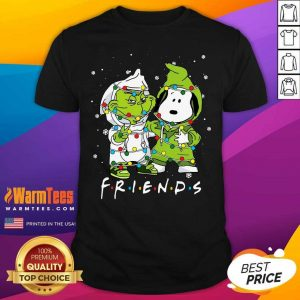 Baby Grinch And Snoopy Friends Merry Christmas Light Shirt - Design By Warmtees.com