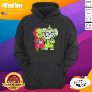 Baby Grinch Baby Elephant Peace Alabama Crimson Tide Hoodie - Design By Warmtees.com