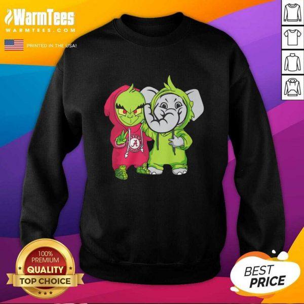 Baby Grinch Baby Elephant Peace Alabama Crimson Tide SweatShirt - Design By Warmtees.com