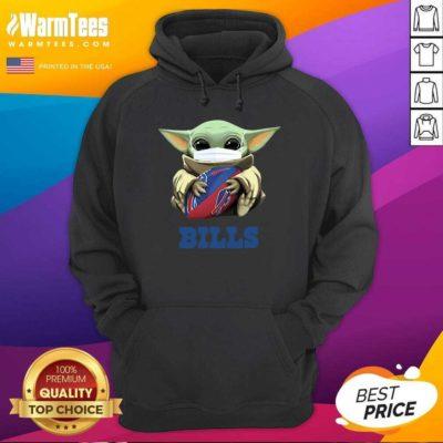 Baby Yoda Face Mask Hug Buffalo Bills Hoodie - Design By Warmtees.com