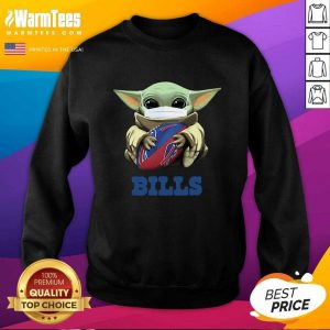 Baby Yoda Face Mask Hug Buffalo Bills SweatShirt - Design By Warmtees.com