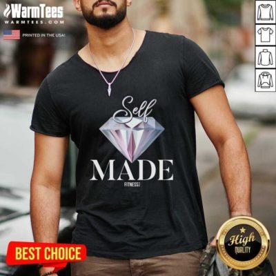 Diamond Self Made Fitness Let Go V-neck - Design By Warmtees.com