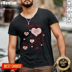 I Love You Oxytocin Hormone V-neck - Design By Warmtees.com