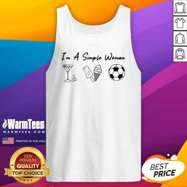 I'm A Simple Woman Like Whiskey Ice Dream Soccer Tank Top - Design By Warmtees.com