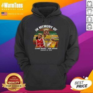In Memory Of Gianna Bryant And Kobe Bryant January 26 2020 Signature Vintage Retro Hoodie - Design By Warmtees.com