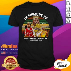 In Memory Of Gianna Bryant And Kobe Bryant January 26 2020 Signature Vintage Retro Shirt - Design By Warmtees.com