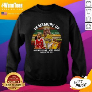 In Memory Of Gianna Bryant And Kobe Bryant January 26 2020 Signature Vintage Retro SweatShirt - Design By Warmtees.com