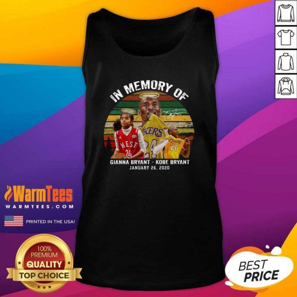In Memory Of Gianna Bryant And Kobe Bryant January 26 2020 Signature Vintage Retro Tank Top - Design By Warmtees.com