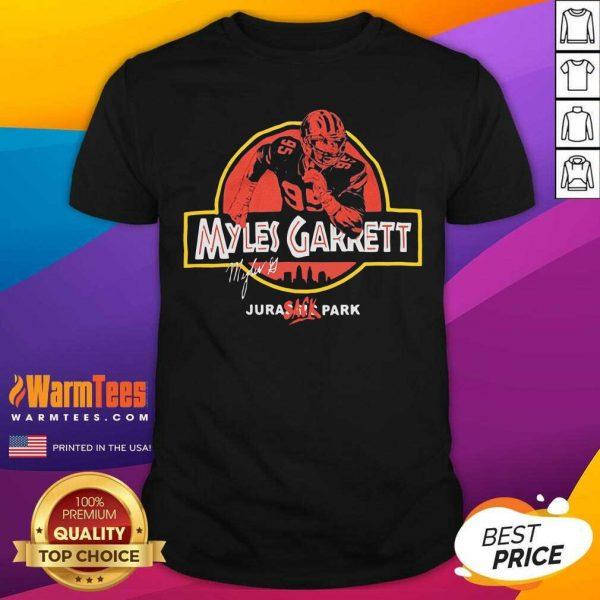 Jurassic Myles Garrett Tee Shirt - Design By Warmtees.com