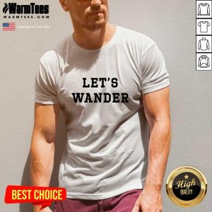 Let's Wanderlogo V-neck - Design By Warmtees.com
