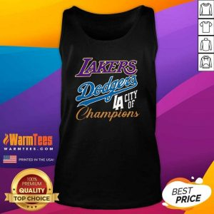Los Angeles Laker Dodgers City Of Champions Tank Top - Design By Warmtees.com