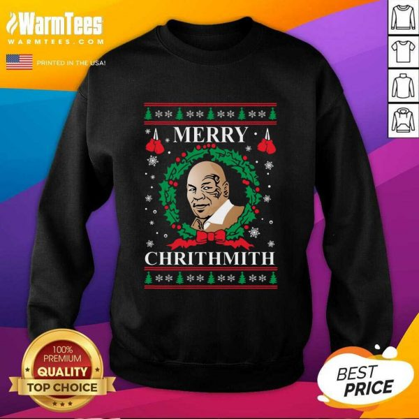 Mike Tyson Merry Chrithmith Ugly Christmas SweatShirt - Design By Warmtees.com