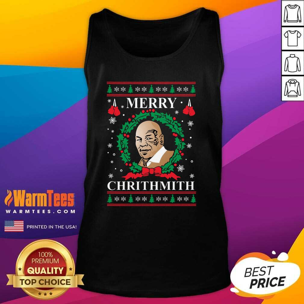 Mike Tyson Merry Chrithmith Ugly Christmas Tank Top  - Design By Warmtees.com