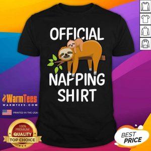 Napping Sloth Pyjamas Shirt - Design By Warmtees.com