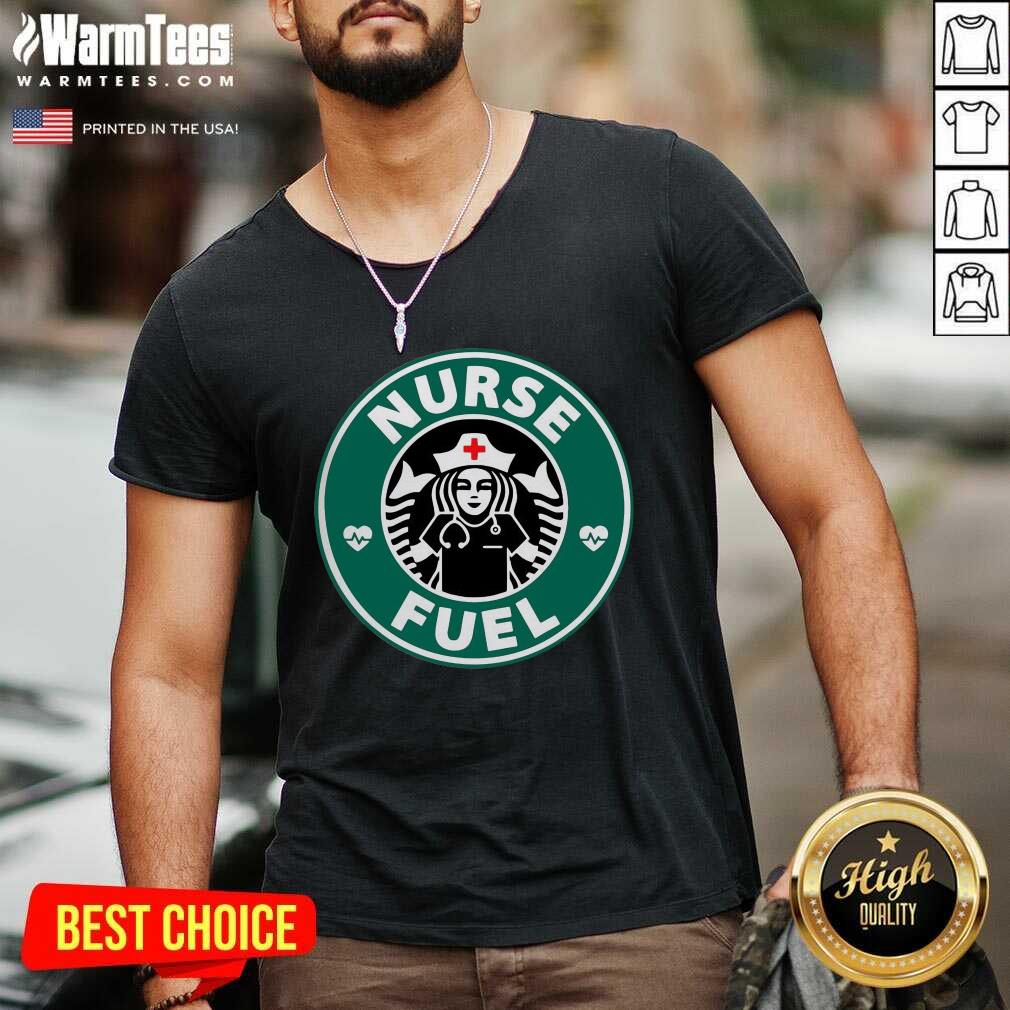 Nurse Fuel Starbuck Coffee V-neck  - Design By Warmtees.com