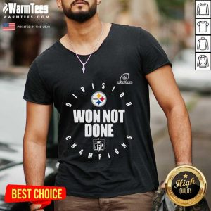 Pittsburgh Steelers Champions 2020 Won Not Done V-neck - Design By Warmtees.com