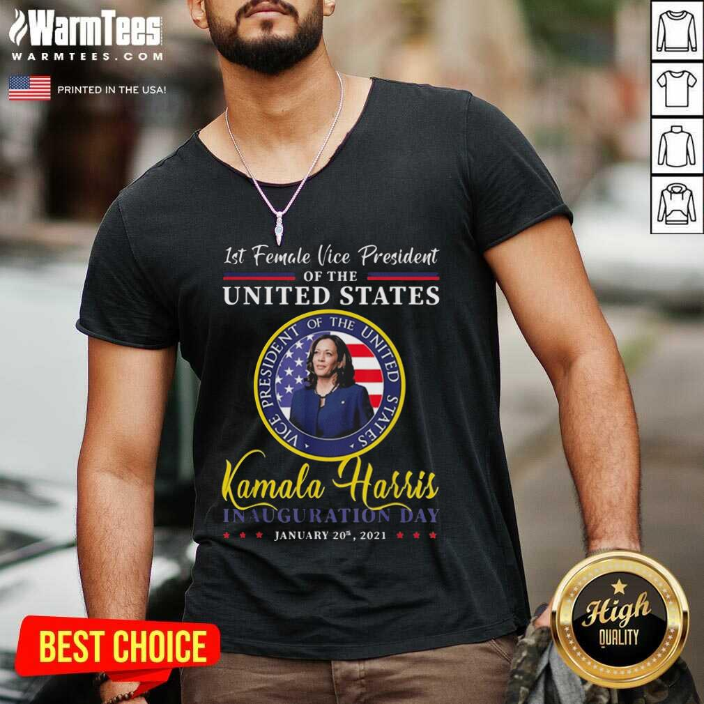 President Joe Biden 2021 And Vp Harris Inauguration Day V-neck  - Design By Warmtees.com