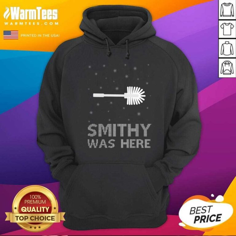 Smithy Was Here Ugly Christmas Hoodie - Design By Warmtees.com