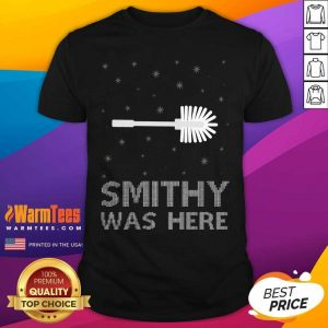 Smithy Was Here Ugly Christmas Shirt - Design By Warmtees.com