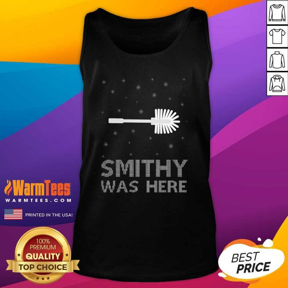 Smithy Was Here Ugly Christmas Tank Top  - Design By Warmtees.com