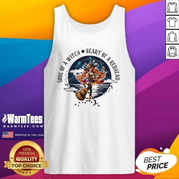 Soul Of A Witch Heart Of A Redhead Halloween Tank Top - Design By Warmtees.com
