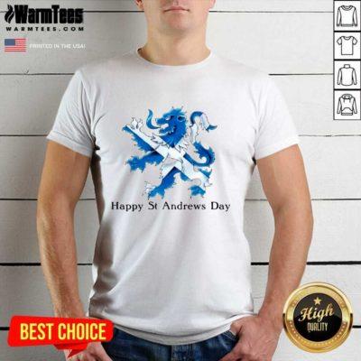 St Andrew's Day Celebration Lion Shirt - Design By Warmtees.com