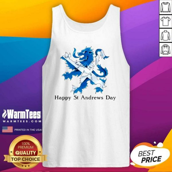 St Andrew's Day Celebration Lion Tank Top - Design By Warmtees.com