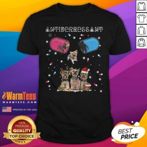Yorkshire Terrier Antidepressant Ugly Christmas Shirt - Design By Warmtees.com