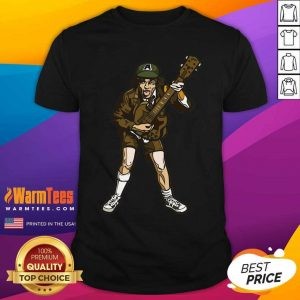 AC DC Collectible Handpicked 2017 FiGPiN Angus Young High Voltage Figure Pin Shirt - Design By Warmtees.com