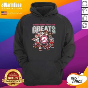 Alabama Crimson Tide All Time Greats Signatures Hoodie - Design By Warmtees.com