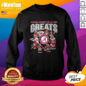 Alabama Crimson Tide All Time Greats Signatures SweatShirt - Design By Warmtees.com