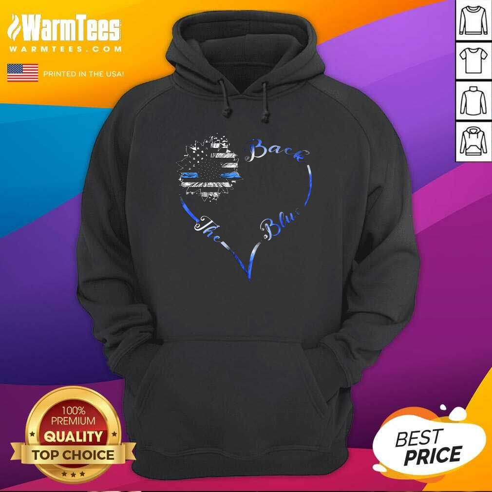 Back The Blue Heart Hoodie  - Design By Warmtees.com