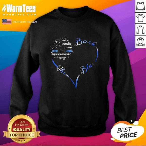 Back The Blue Heart SweatShirt - Design By Warmtees.com