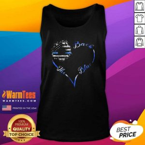 Back The Blue Heart Tank Top - Design By Warmtees.com