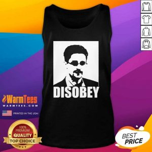 Edward Snowden Disobey Tank Top - Design By Warmtees.com