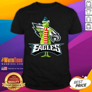 Grinch Philadelphia Eagles Christmas Shirt - Design By Warmtees.com
