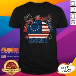 Happy New Year 2021 Vintage Betsy Ross Flag Fireworks Shirt - Design By Warmtees.com