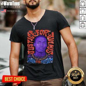 Justice For Julius Walk For Freedom V-neck - Design By Warmtees.com