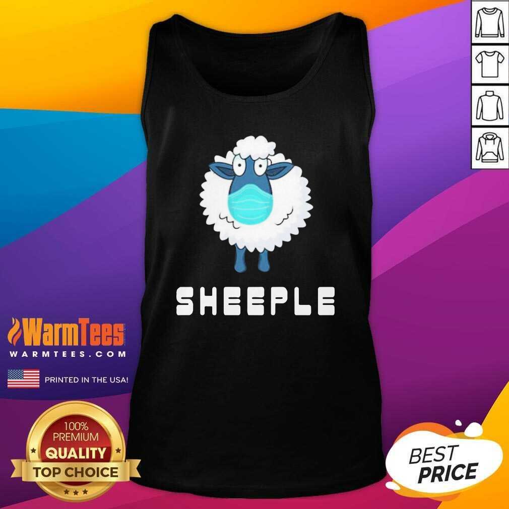 Lamb Face Mask Sheep Tank Top  - Design By Warmtees.com