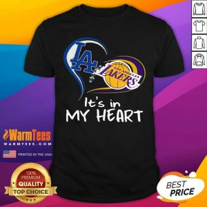Los Angeles Raiders And Los Angeles Lakers It's In My Heart Shirt - Design By Warmtees.com