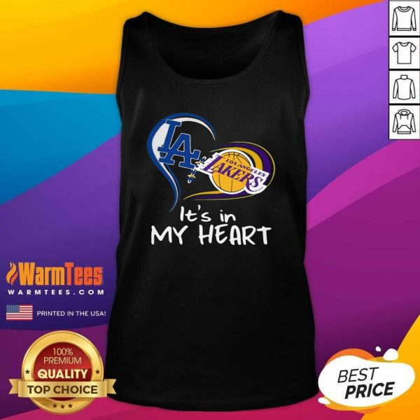 Los Angeles Raiders And Los Angeles Lakers It's In My Heart Tank Top - Design By Warmtees.com