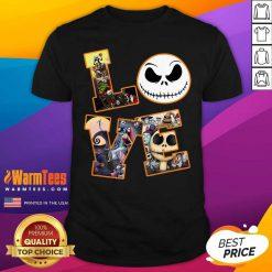 Love Jack Skellington The Nightmare Before Christmas Shirt - Design By Warmtees.com